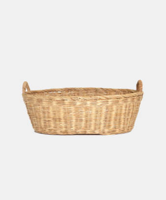 Siam / ラタンふち付き楕円バスケット Mサイズ