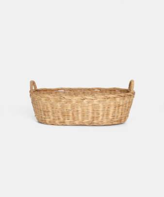 Siam / ラタンふち付き楕円バスケット Sサイズ