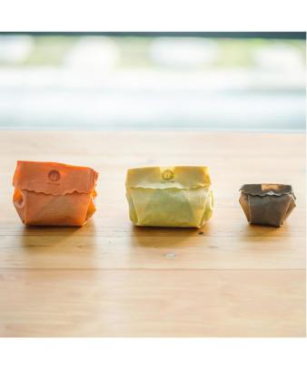 aco wrap / 洗って何度も使える天然ラップ Sサイズ(3寸皿)8