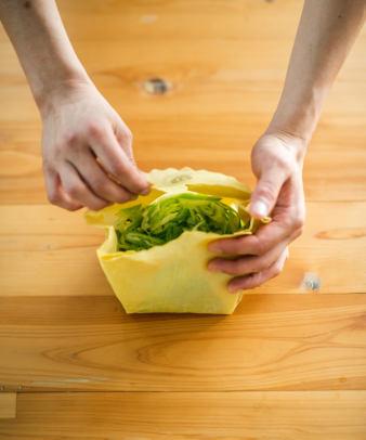 aco wrap / 洗って何度も使える天然ラップ Sサイズ(3寸皿)9