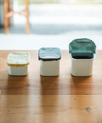 aco wrap / 洗って何度も使える天然ラップ Mサイズ(5寸皿)1