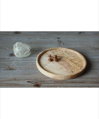 松野屋 / オリーブ木 ラウンドプレート16cm2