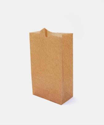 松野屋 / 蝋引紙袋 角底 中