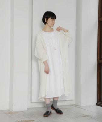 mumokuteki お直し / ヴィンテージホワイトコットンワンピ—ス_1