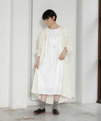 mumokuteki お直し / ヴィンテージホワイトコットンワンピ—ス_2