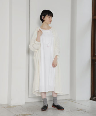 mumokuteki お直し / ヴィンテージホワイトコットンワンピ—ス_3