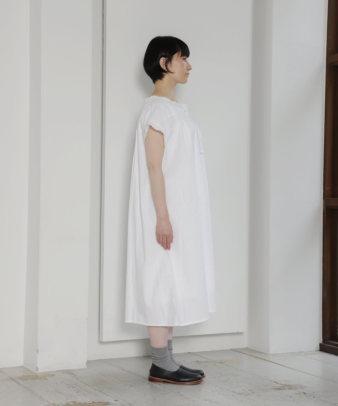mumokuteki お直し / ヴィンテージホワイトコットンワンピ—ス_5