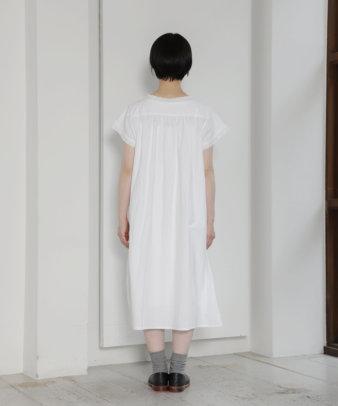mumokuteki お直し / ヴィンテージホワイトコットンワンピ—ス_6
