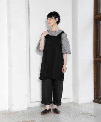 京都紋付黒染め / ヨーロッパホワイトコットンワンピース_1