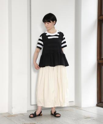 京都紋付黒染め / ヨーロッパホワイトコットンリメイクトップス_1