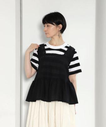 京都紋付黒染め / ヨーロッパホワイトコットンリメイクトップス_2