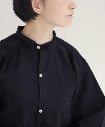 【オンライン期間限定10%off】京都紋付黒染め / ビンテージリネンチュニックシャツ_1