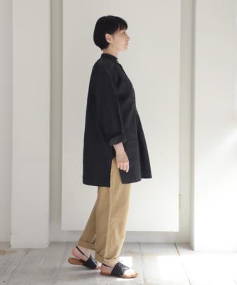 【オンライン期間限定10%off】京都紋付黒染め / ビンテージリネンチュニックシャツ_6