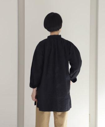 【オンライン期間限定10%off】京都紋付黒染め / ビンテージリネンチュニックシャツ_8