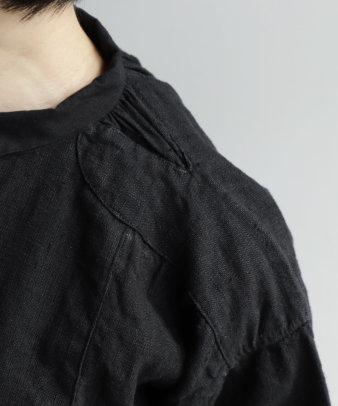 【オンライン期間限定10%off】京都紋付黒染め / ビンテージリネンチュニックシャツ_9