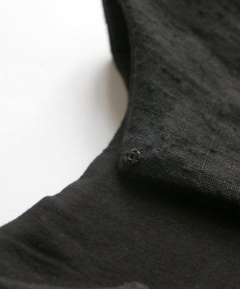 【オンライン期間限定20%off】京都紋付黒染め / ビンテージリネンリメイクつけ襟 セーラー_10