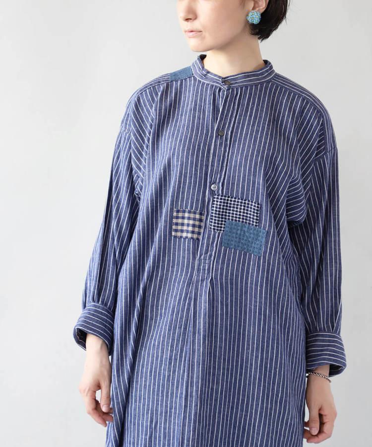 大槌刺し子×mumokuteki / ヨーロッパフィッシャーマンチュニック_1