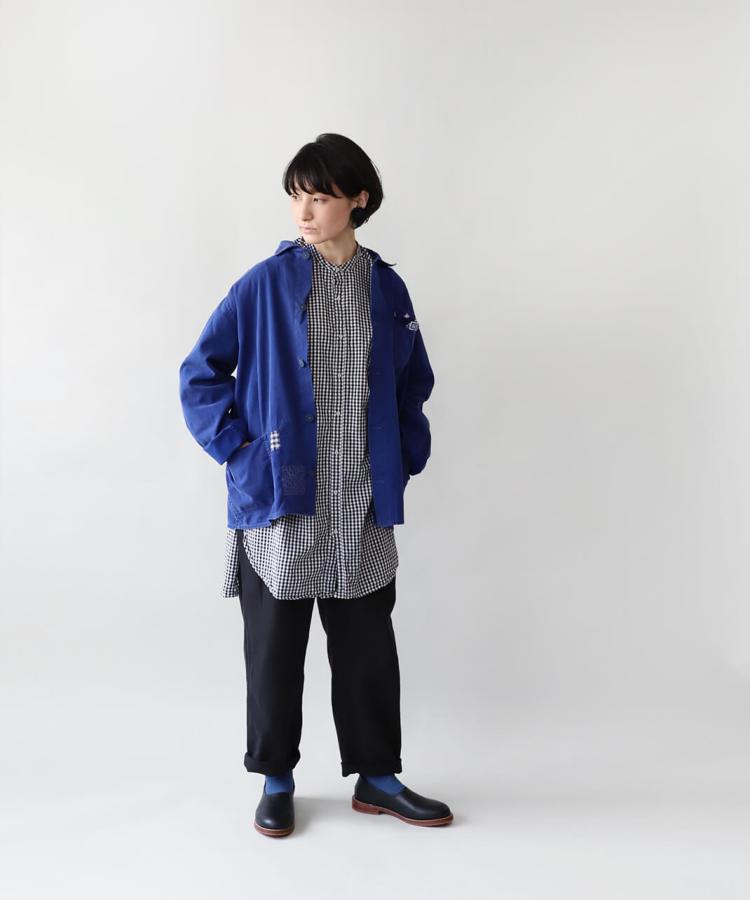 大槌刺し子×mumokuteki / ヨーロッパワークジャケット_1