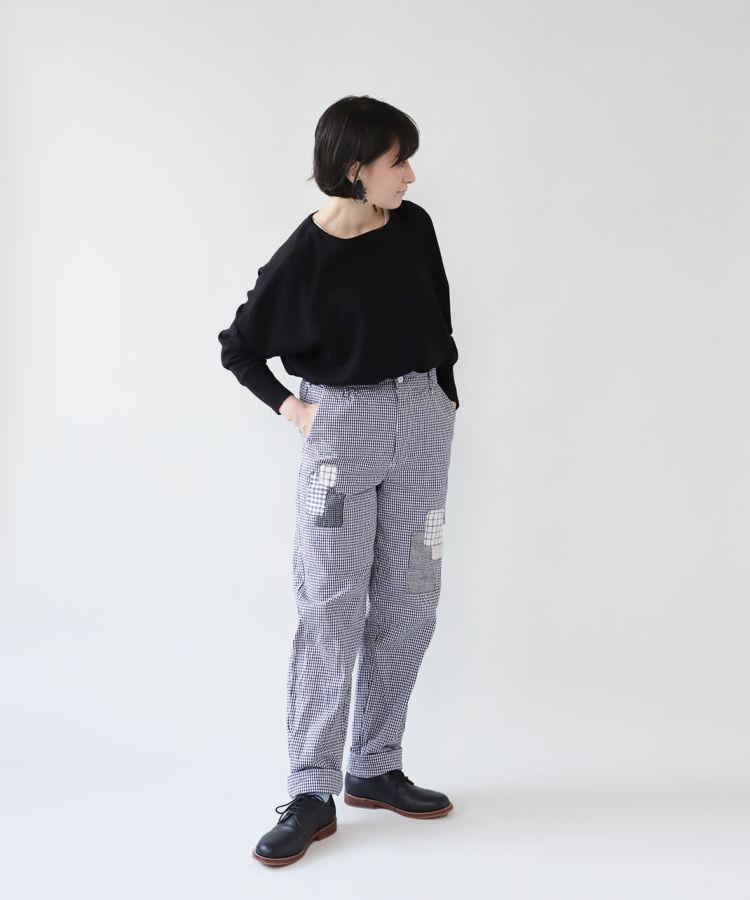 大槌刺し子×mumokuteki / ヨーロッパコックパンツ_1