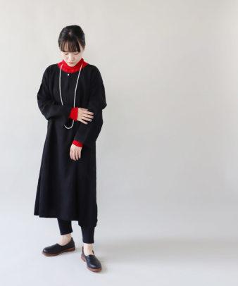 京都紋付黒染め / ビンテージリネンワンピース_1