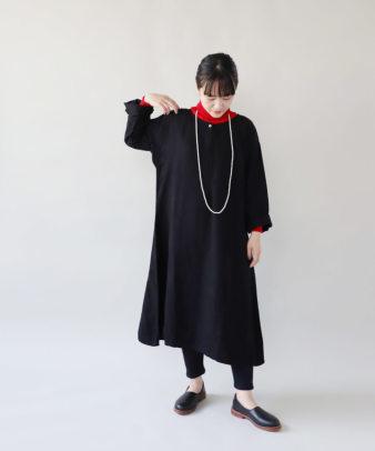 京都紋付黒染め / ビンテージリネンワンピース_2