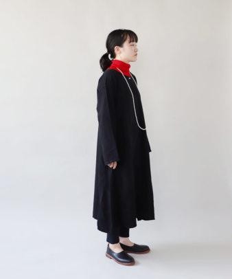 京都紋付黒染め / ビンテージリネンワンピース_5