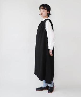 京都紋付黒染め / ビンテージコットンリメイクワンピース_2