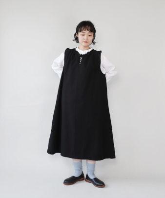 京都紋付黒染め / ビンテージコットンリメイクワンピース_3