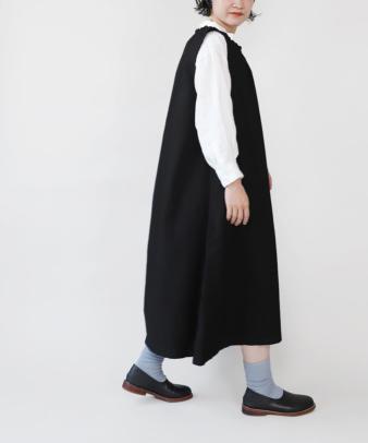 京都紋付黒染め / ビンテージコットンリメイクワンピース_5