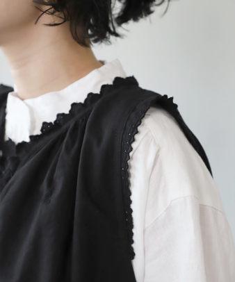 京都紋付黒染め / ビンテージコットンリメイクワンピース_6