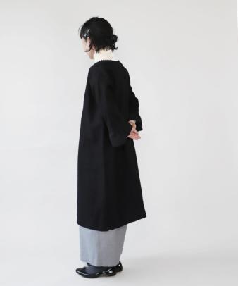 京都紋付黒染め / ビンテージリネンリメイクワンピース_3