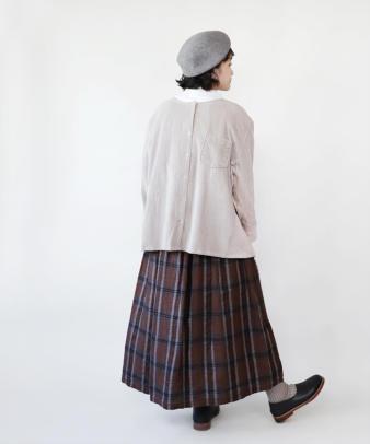 mumokuteki /オリジナルコーディロイリメイクトップス グレージュ_1