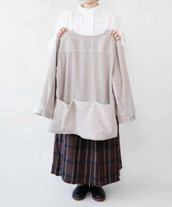 mumokuteki /オリジナルコーディロイリメイクトップス グレージュ_13