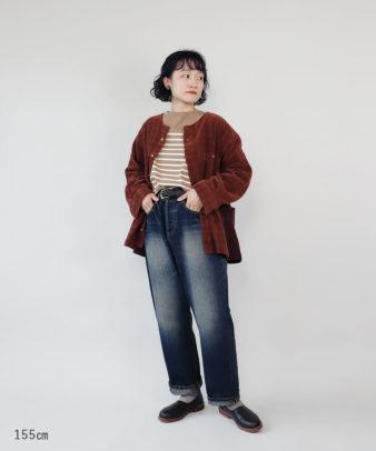mumokuteki /オリジナルコーディロイリメイクトップス レンガ_4