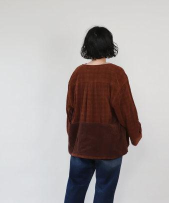 mumokuteki /オリジナルコーディロイリメイクトップス レンガ_8