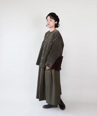 mumokuteki /オリジナルコーディロイリメイクトップス ブラウン_12