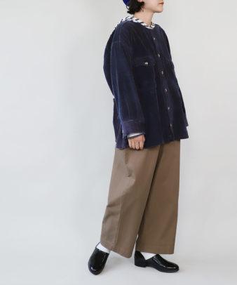 mumokuteki /オリジナルコーディロイリメイクトップス ネイビー_8
